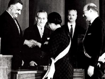 جمال عبد الناصر ومحمد عبد الوهاب وام كلثوم