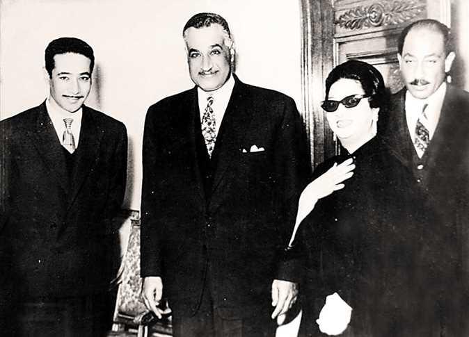 جمال عبد الناصر وام  كلثوم