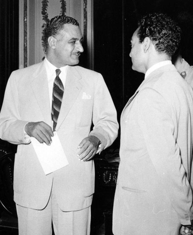 جمال عبد الناصر ومحمد فوزى
