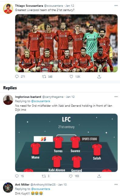 تشكيل ليفربول في القرن الحالي
