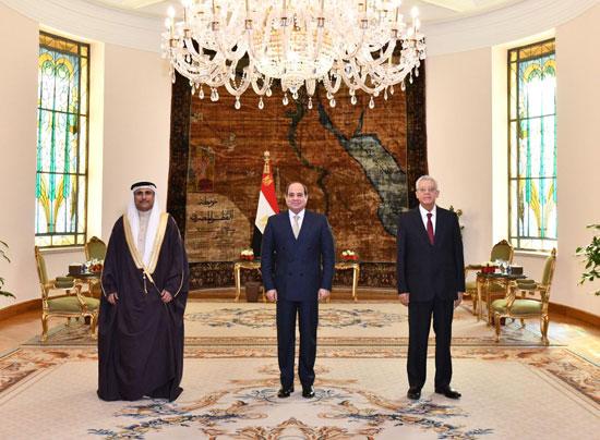 الرئيس السيسي وعادل العسومى رئيس البرلمان العربى (2)