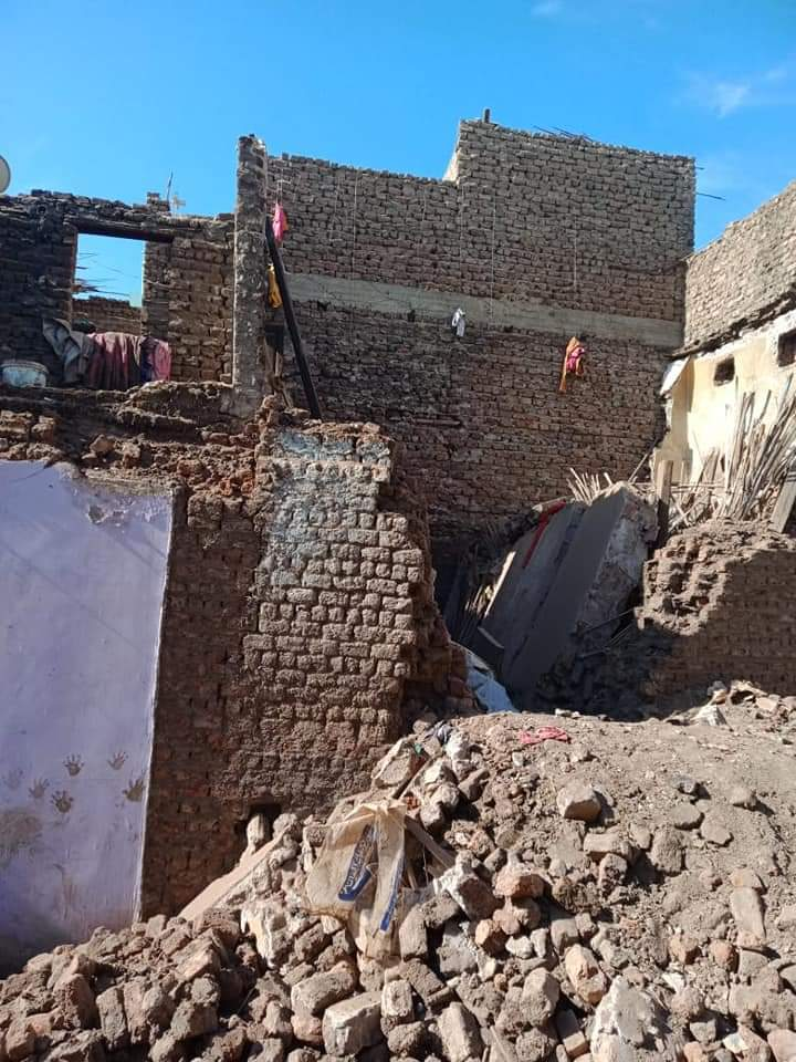 انهيار منزل بقرية شطب بمركز أسيوط (3)
