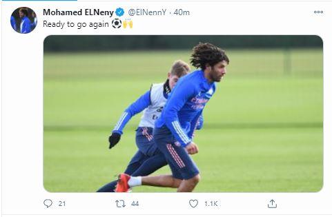 محمد النني عبر تويتر