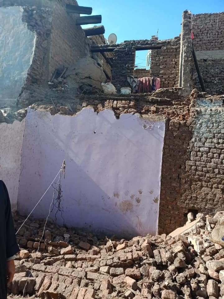 انهيار منزل بقرية شطب بمركز أسيوط (2)