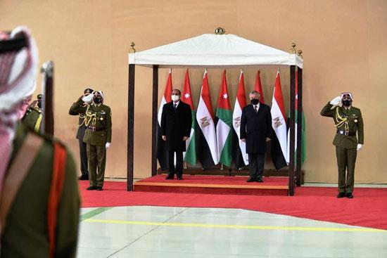 الرئيس عبد الفتاح السيسى والملك عبد الله الثانى (1)