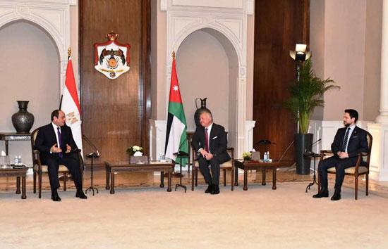 الرئيس عبد الفتاح السيسى والملك عبد الله الثانى (3)