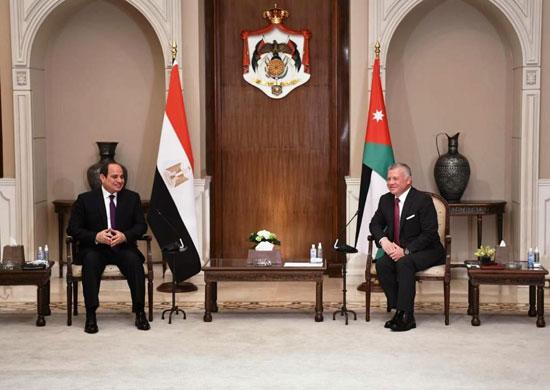 الرئيس عبد الفتاح السيسى والملك عبد الله الثانى (4)