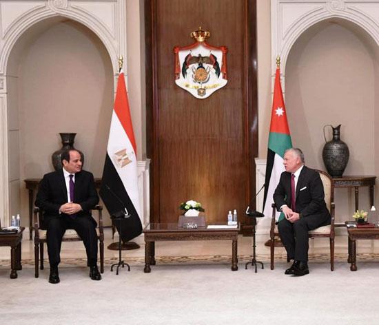 الرئيس عبد الفتاح السيسى والملك عبد الله الثانى (2)