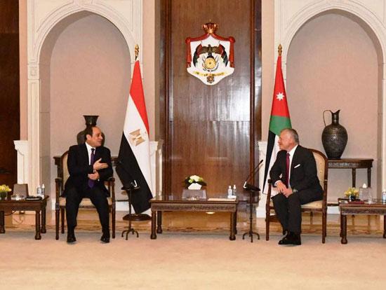 الرئيس عبد الفتاح السيسى والملك عبد الله الثانى (6)