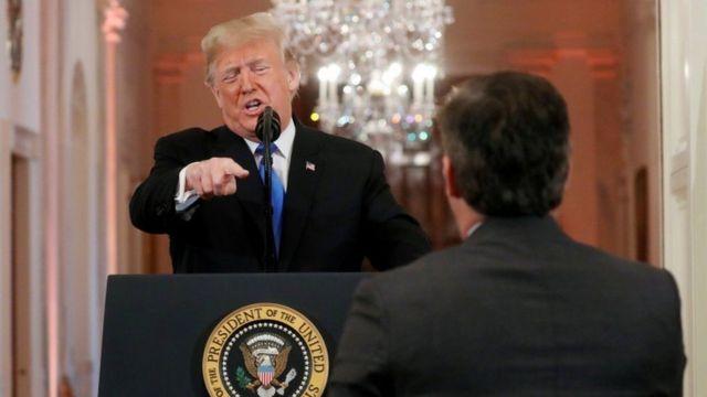مشادة بين ترامب ومراسل أحد القنوات الأمريكية