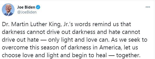 جو بايدن على تويتر
