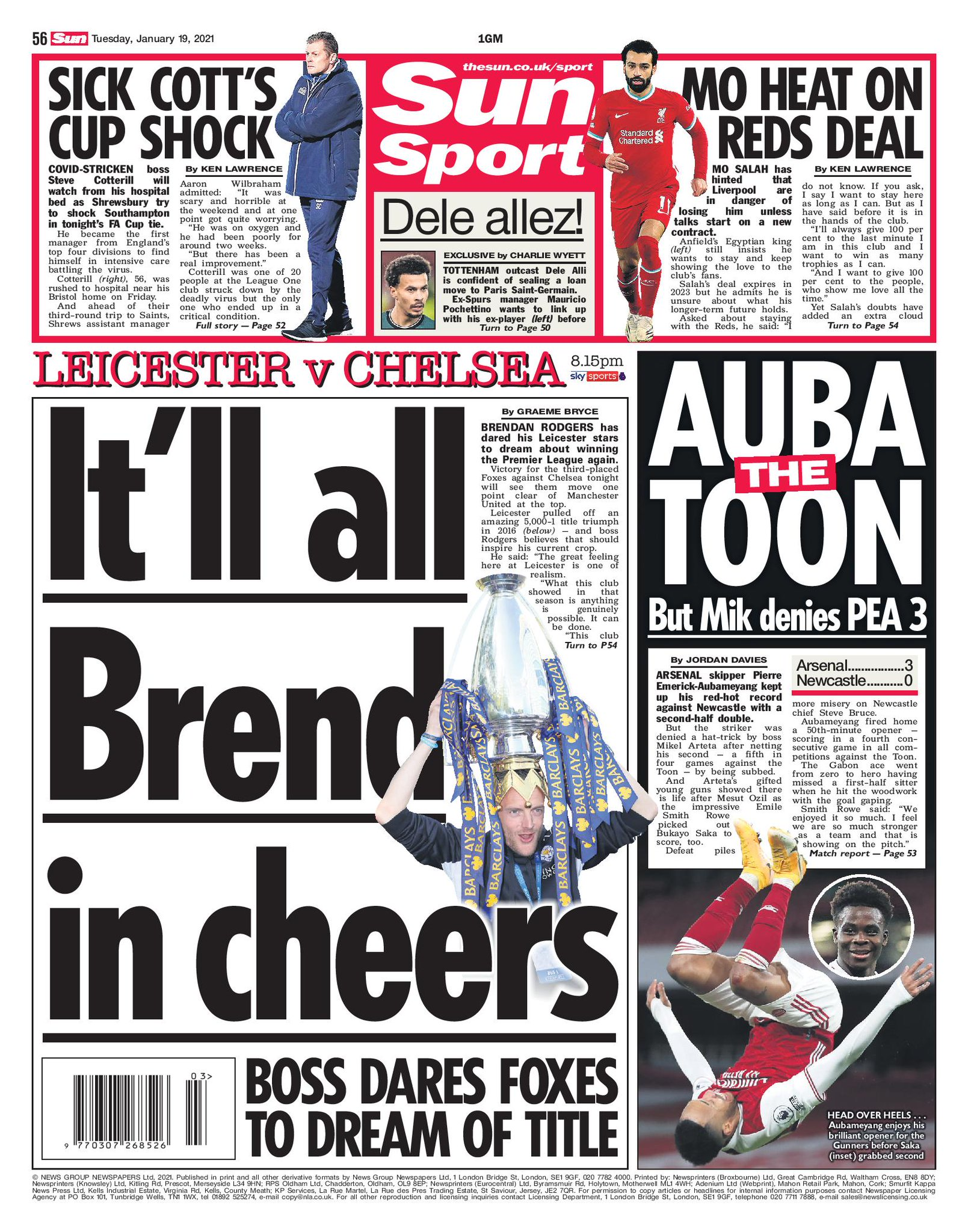 The Sun's cover