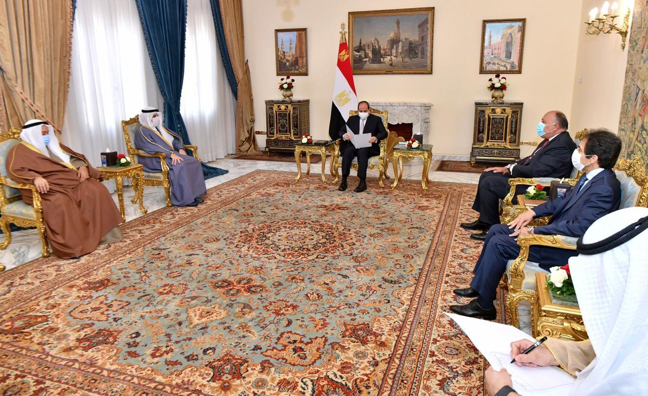 الرئيس السيسي يستقبل الدكتور أحمد ناصر الصباح وزير الخارجية الكويتي (2)