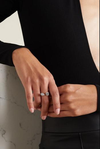 خاتم ميسيكا ماي توين توي آند موي من الذهب الأبيض عيار 18 قيراط (10720 دولارًا)