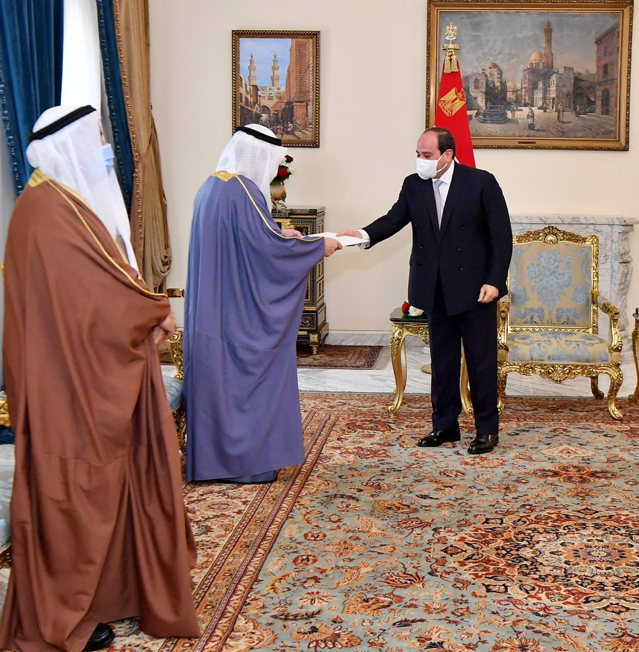 الرئيس السيسي يستقبل الدكتور أحمد ناصر الصباح وزير الخارجية الكويتي (3)