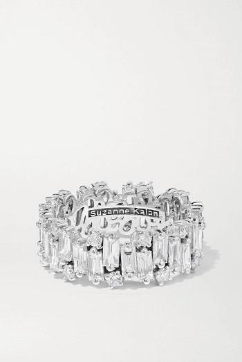 خاتم سوزان كالان الماسي من الذهب الأبيض عيار 18 قيراطًا (15575 دولارًا)