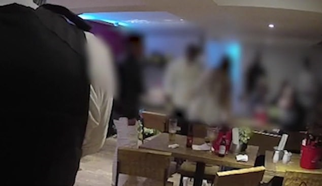 The moment a party was stormed in a store at a British restaurant, each person was fined 200 pounds.  (1)