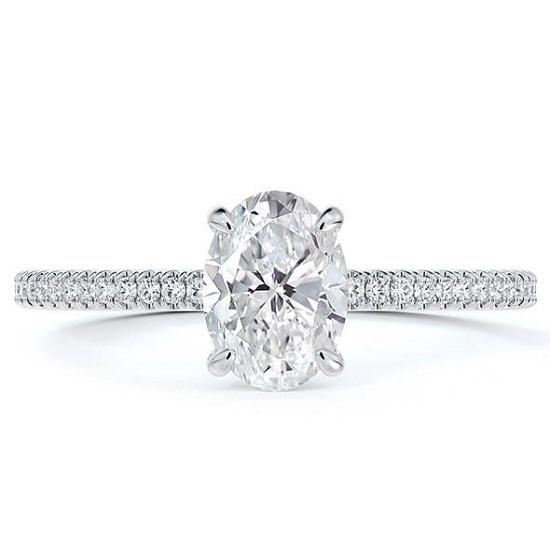 خاتم خطوبة بيضاوي من Forevermark Micaela مع خاتم الماس (3865 دولارًا)