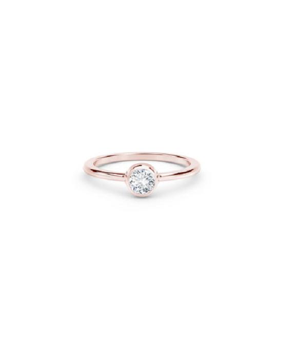 خاتم خطوبة سوليتير من الذهب الوردي عيار 18 قيراط من Forevermark (910 دولار)