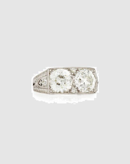 خاتم خطوبة مرصع بالألماس من NM Estate Art Deco (97500 دولار)