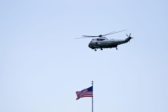 الطائرة تتجه إلى القاعدة العسكرية التى ينتقل منها ترامب إلى فلوريدا