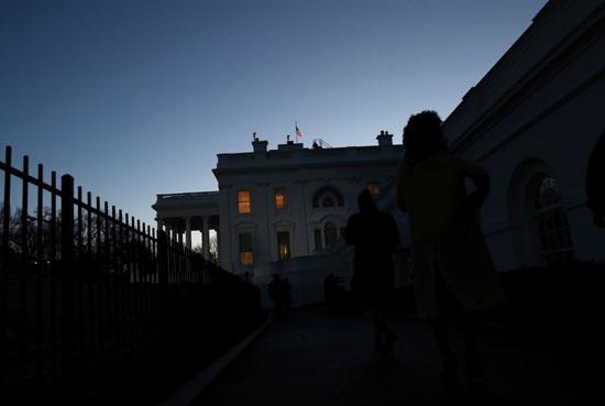 البيت الأبيض قبل مغادرة ترامب بدقائق