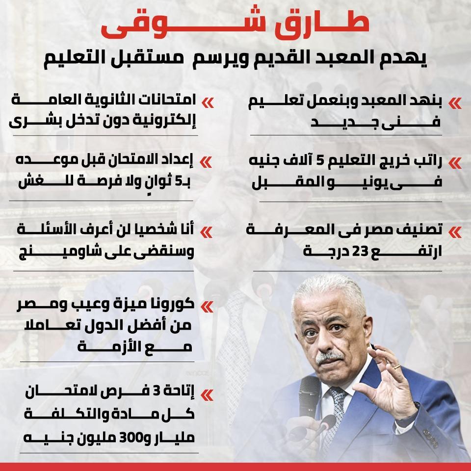 تصريحات وزير التعليم
