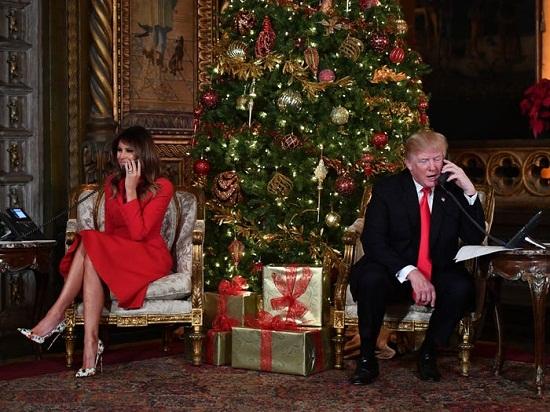 ترامب وزوجته داخل المنزل خلال فترة رئاسته