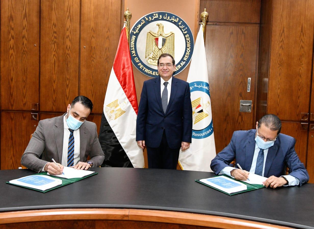 وزير البترول والثروة المعدنية يشهد التوقيع مع ابداع فورجولد المصرية