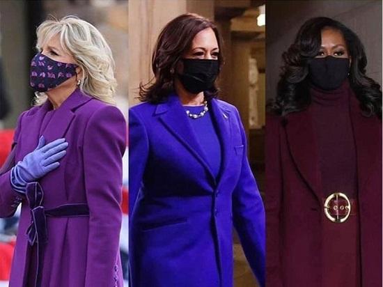 سيدات أمريكا باللون البنفجسي
