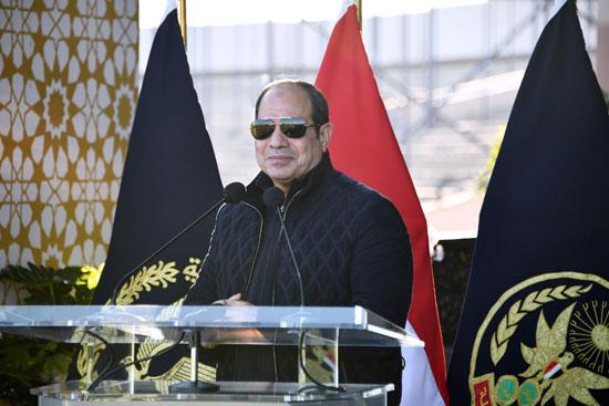 كلمة الرئيس السيسي خلال خلال زيارته أكاديمية الشرطة