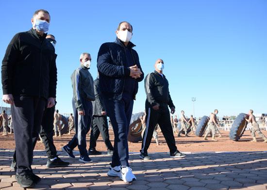 الرئيس السيسى فى زيارة تفقدية لأكاديمية الشرطة (16)