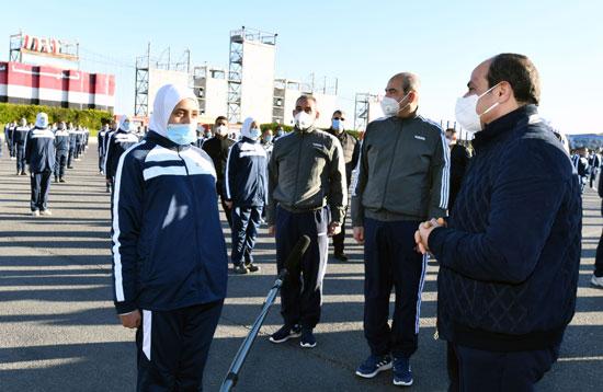 الرئيس السيسى فى زيارة تفقدية لأكاديمية الشرطة (9)