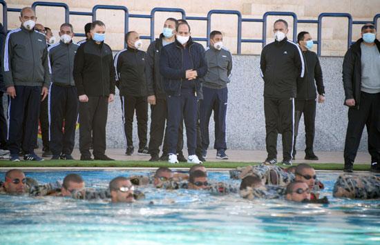 الرئيس السيسى فى زيارة تفقدية لأكاديمية الشرطة (17)