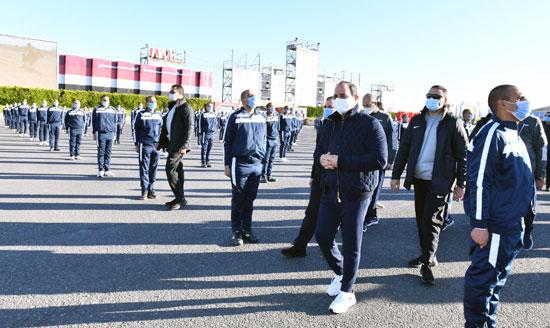 الرئيس السيسى فى زيارة تفقدية لأكاديمية الشرطة (6)