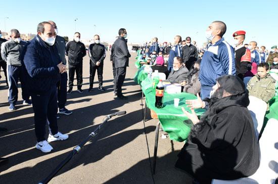 الرئيس السيسى فى زيارة تفقدية لأكاديمية الشرطة (15)