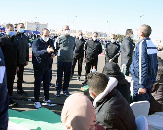الرئيس السيسى فى زيارة تفقدية لأكاديمية الشرطة (22)