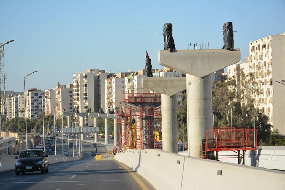 اعمال تنفيذ مشروع مونوريل العاصمة الإدارية الجديدة