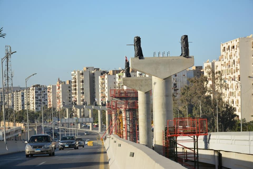 جانب من الاعمال المنفذه بمشروع منورويل العاصمة الإدراية الجديدة بشارع يوسف عباس