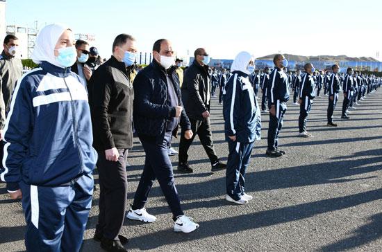 الرئيس السيسى فى زيارة تفقدية لأكاديمية الشرطة (10)