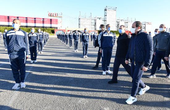الرئيس السيسى فى زيارة تفقدية لأكاديمية الشرطة
