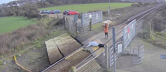 امرأة تخاطر بحياتها من أجل صورة سيلفى على قضبان قطار في بريطانيا (2)