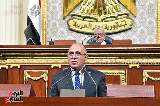 وزير الرى أمام مجلس النواب