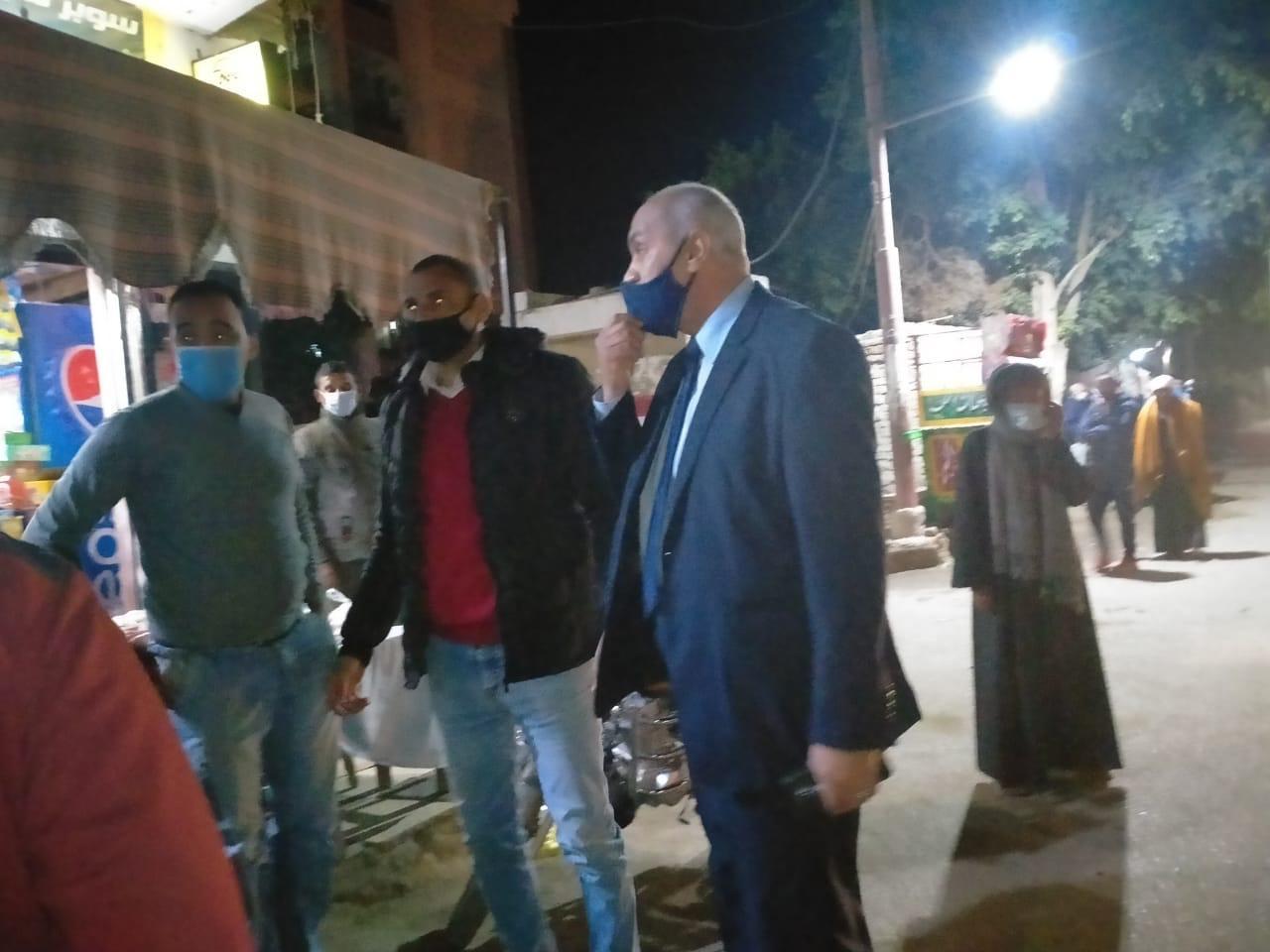تغريم 19 مواطن بدون كمامات غرب الأقصر