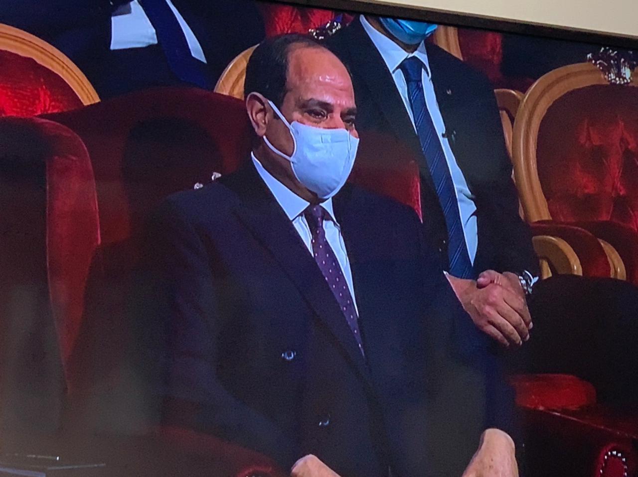 الرئيس عبد الفتاح السيسى خلال الاحتفال بعيد الشرطة (2)