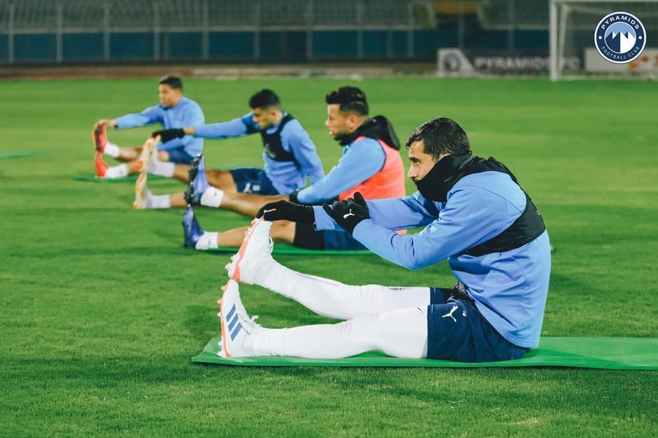 لاعبو بيراميدز يتدربون بجدية أستعدادا للاهلى