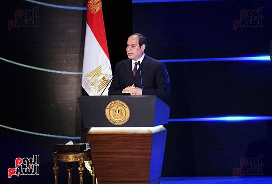 كلمة الرئيس السيسى فى الاحتفال بعيد الشرطة (17)