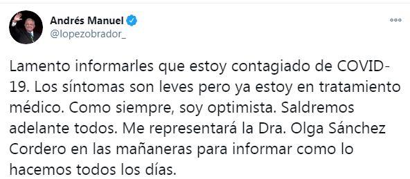 رئيس المكسيك على تويتر