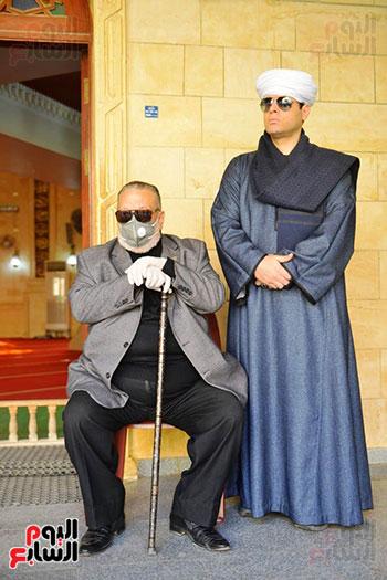 محمود التهامى فى صلاة الجنازة