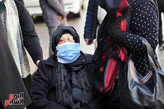 جانب من جنازة الدكتورة عبلة الكحلاوى